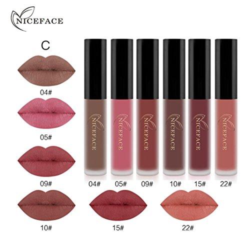 Waterproof 6 Colors Matte Lipstick Gloss Set - 8
