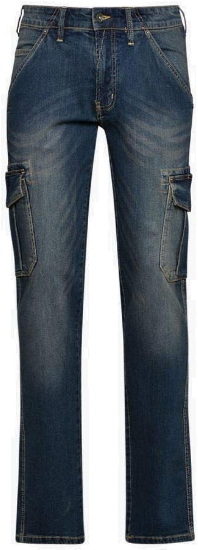 Diadora Pantalone da Lavoro Multitasche Jeans Taglia 46 172115 Cargo Denim