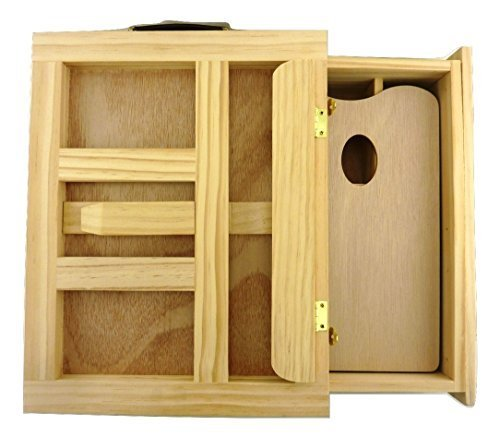 Strokes Art Supply Large Artistic Wooden Desk Easel With Extra Large Storage Drawer Includes Free Wooden Palette Professional Quality