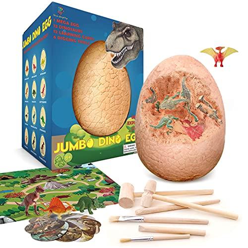 Mega Dinosaur Egg - Dino Egg Dig Kit Dinosaur Toys For Kids Dragon Egg Dig Kit - Dinosaur Archaeology Science STEM Gifts For Boys Toys