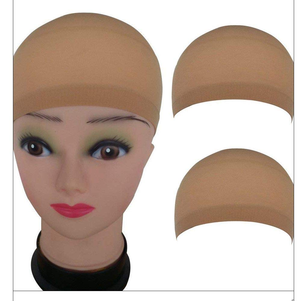 Aviat 2Pcs Wig Caps Hair Mesh Hairpieces Stretchable Elastic Hair Net Replacement Wigs Decor for Party/Halloween/Cosplay/Daily Use
