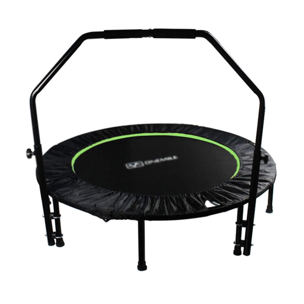 室内用トランポリン トランポリンミニトランポリンフィットポーツ減量装置折り畳み春のバウンスベッド (Color : Green, Size : 48 inch) 48 inch Green B07J5898FJ
