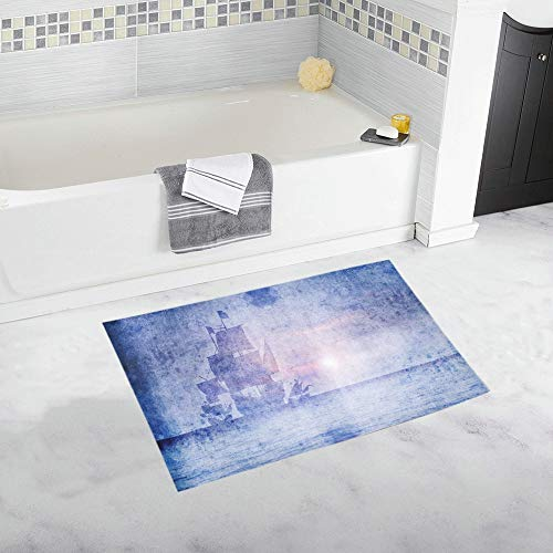 Santa Maria Wide Custom Non-Slip Bath Mat Rug Bath Doormat Floor Rug for Bathroom 20 X 32 Inch