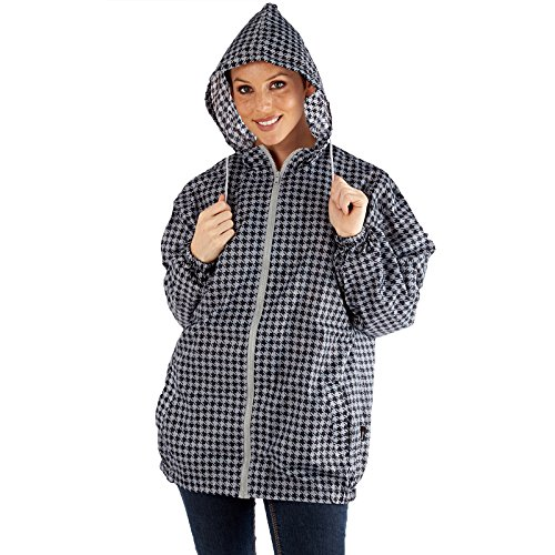 Pro Climate - Abrigo impermeable - para mujer Hahnentritt Muster