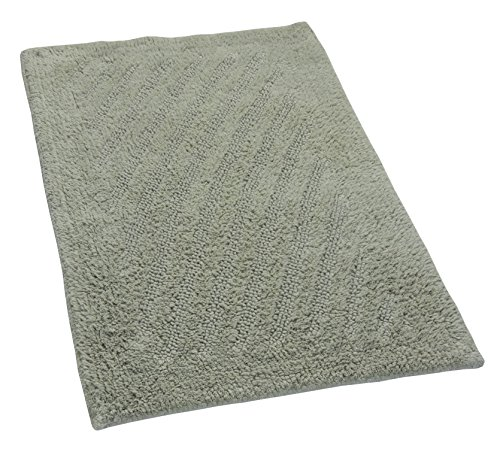 Castle Hill London Linear Reversible Bath Rug, 21 by 34-Inch, Light Sage ()