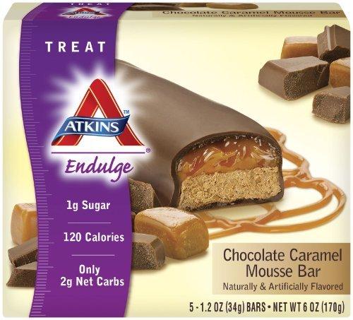 Atkins - Endulge Chocolate Caramel Mousse Bars, 5 bars [Health and Beauty] by Atkins
