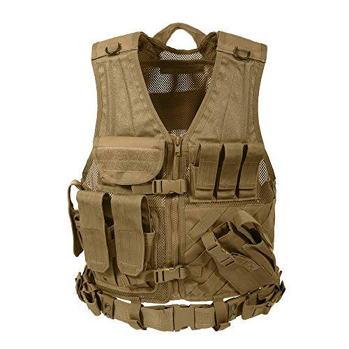 Rothco Cross Draw MOLLE Tactical Vest, Coyote Brown, Over Size ()