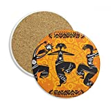 Dance People Mexico Totems Mexican Flute Stone Drink Ceramics Coasters for Mug Cup Gift 2pcs