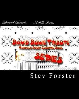 Amazon Com David Bowie Tribute Mandala Adult Coloring Book Encore
