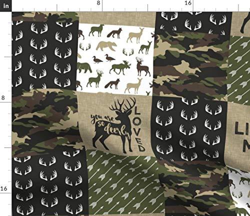 Camouflage Fabric - Camouflage Camo Hunting Deer Woodland Baby Boy Nursery by Littlearrowdesign Printed on Fleece Fabric by The Yard ()