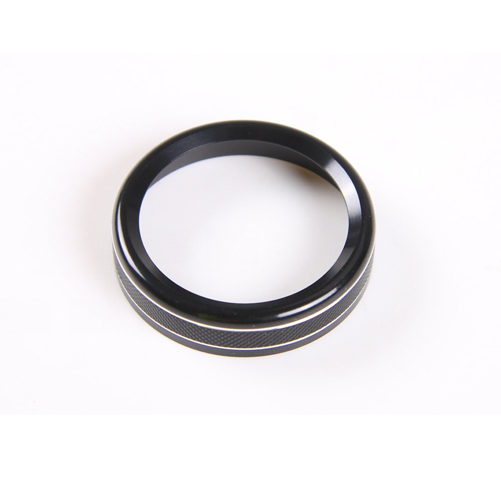 Black 4WD Four Wheel Drive Switch Konb Button Ring Cover For Ford F150 XLT 2016 2017 2018 2019