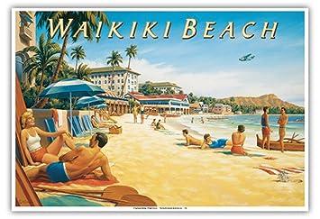 Amazon Com Waikiki Beach Hawaii Moana Hotel Diamond