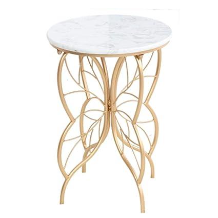 MYDZUS Table D\'appoint Table En Marbre Dessus De Table Ronde ...