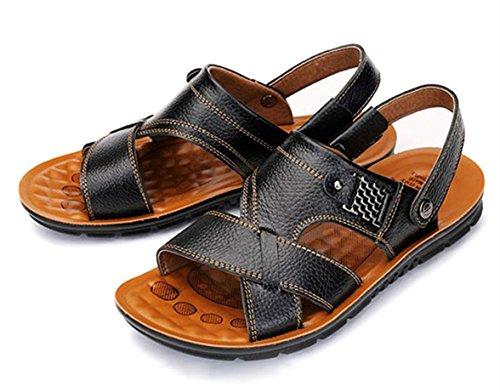 46 Sandali nere taglia toe scarpe freddi casual dimensioni pantofole grandi sandali uomo da 47 estivi scarpe da Nero da open spiaggia 45 Bebete5858 uomo OwdxqFBO