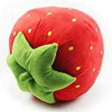 Strawberry Lovely Plush Decorative Pillow Cushion Doll for Birthday Present,red