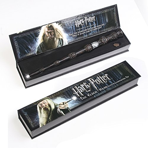 Harry potter the elder wand with illuminating tip buy for Light up elder wand
