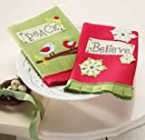 Mud Pie Christmas Felt Towels Piece or Believe 2 Styles (sold separately)