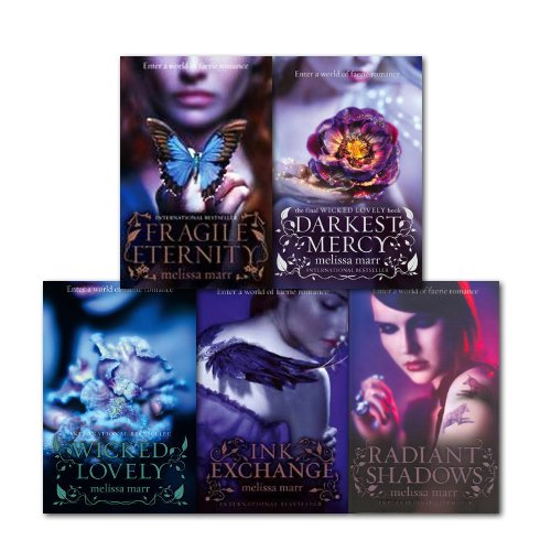 Melissa Marr Collection 5 Books Set, (Fragile Eternity, Radiant Shadows, Ink Exchange, Darkest Mercy and Wicked Lovely) (Wicked Ink)
