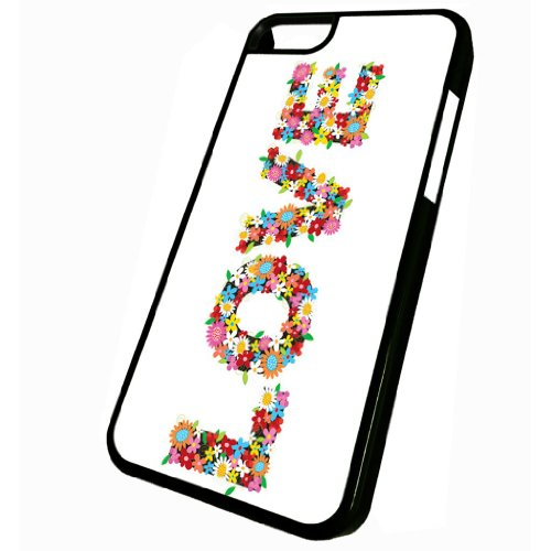 Love Flower Power - iPhone 5c Glossy Black Case