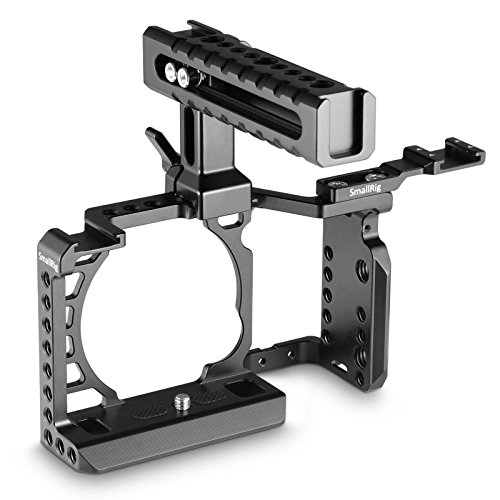SMALLRIG Cage Kit for Sony Alpha A6500 with NATO Handle and Cold Shoe Mount for Handheld Shooting - 2081
