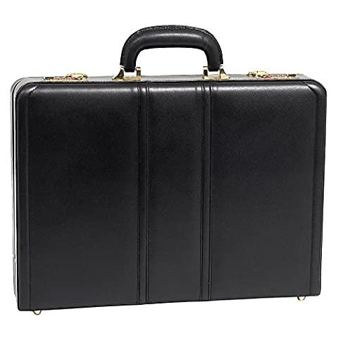 McKlein USA Daley Slim Attache Case V series Leather 18