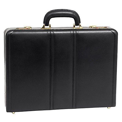 McKlein USA Daley Slim Attache Case V series Leather 18