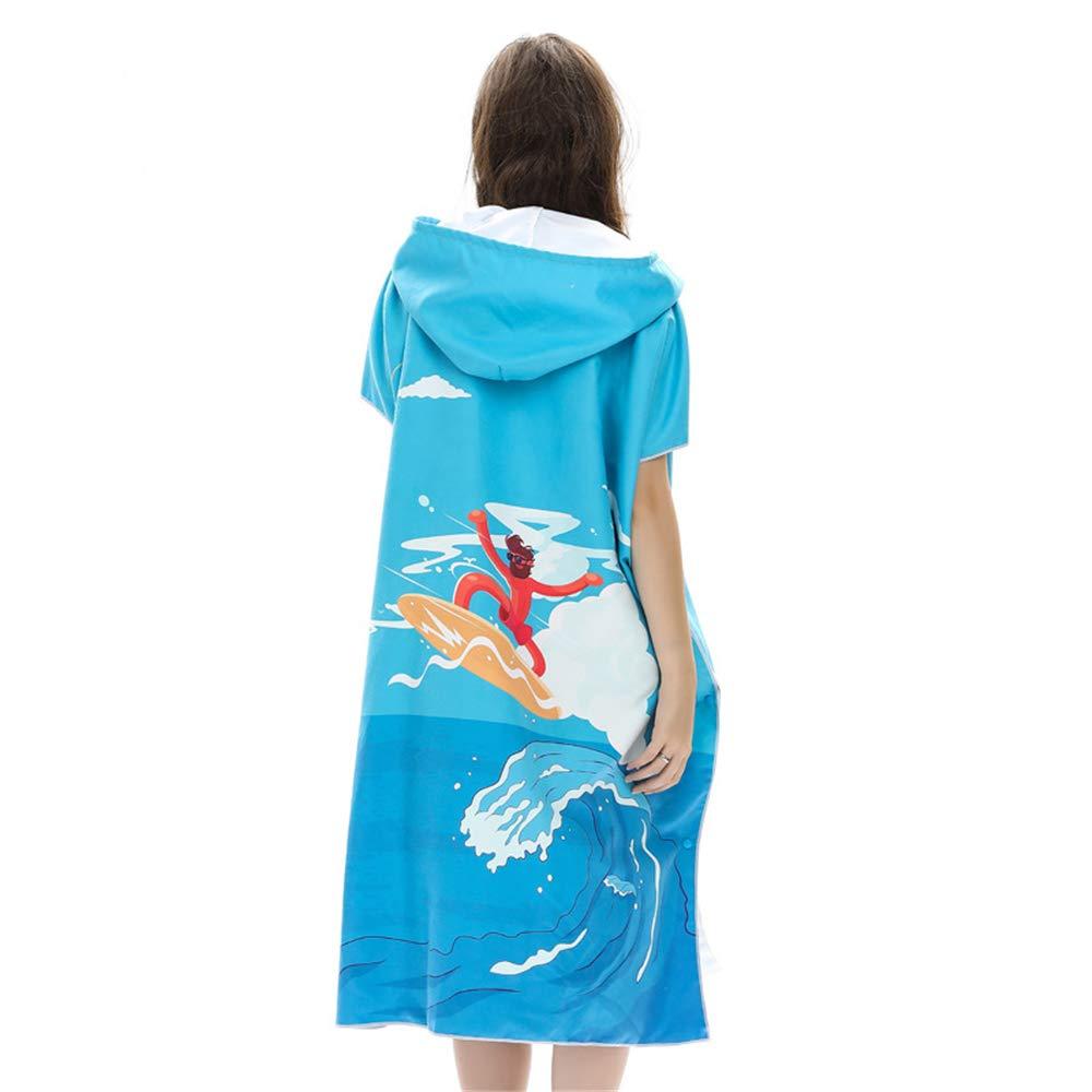 kayard Surf Poncho Dickes Mikrofaser Wasser ohne Neoprenanzug Handtuch//Bademantel mit Kapuze