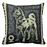 Ntpclsuits Akita Stamp Home Decor Pillow Cover for Girls Throw Pillowcase Dorm Room Decor Throw Pillows for Couch 18 x 18