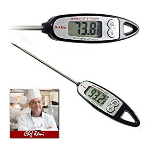 Latest Instant Read Digital Cooking Thermometer | Lifetime Replacement Warranty |Perfect for Oven, Oil, Barbecues, Baking, Making Candy, Meat, Turkey or Any Kitchen Tasks |Rated No.1 Grill Accessories