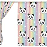 SEULIFE Window Sheer Curtain, Cute Animal Panda