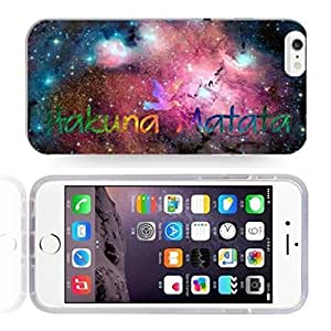 Africa Ancient Proverb HAKUNA MATATA Color Accelerating Universe Star Design Pattern HD Durable Hard Plastic Case Cover for iphone 5 5s