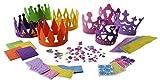 4 Princess Tiara Craft Kits + 4 Prince King Crown Foam Craft Kits - Great fun for kids birthday party
