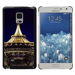 TopCaseStore / la caja del caucho duro de la cubierta de protección de la piel - Architecture Eiffel Tower Lights - Samsung Galaxy Mega 5.8 9150 9152