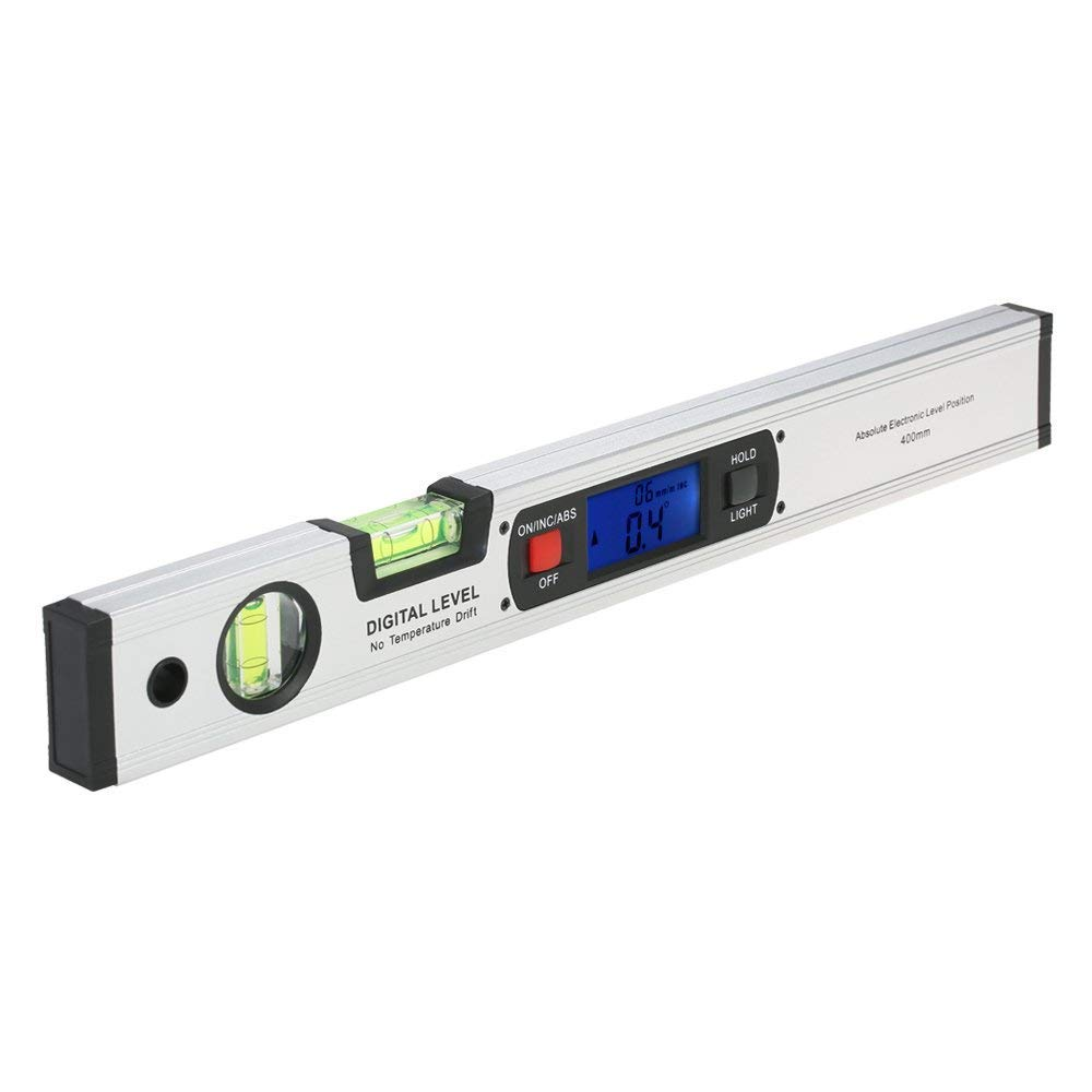 Level Digital,Gocheer 415mm Digital Spirit Level,Digital inclinometer, Upright Magnetic Bottom, 416mm Length with LCD Display, 2 The Bubble Block, 4 Strong Integrated Magnets