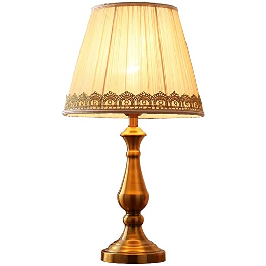GPZZGP-Iluminación de cabecera Lámpara de mesa de bronce ...