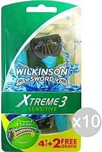 Wilkinson Xtreme 3 - Juego de 10 afeitadoras sensibles, color ...