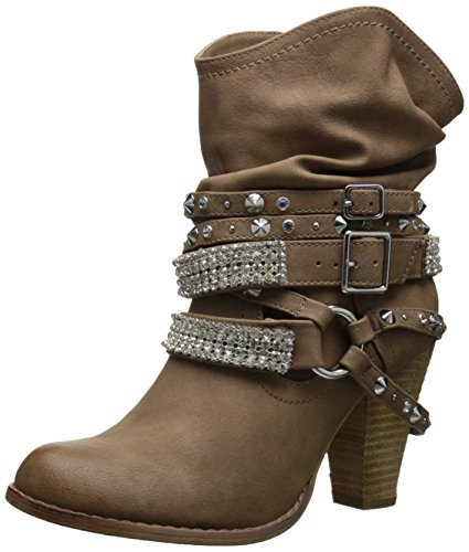 Not Rated Women's Swanky Ankle Bootie, Nude, 6.5 M US