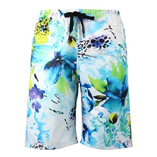 haoricu Men's Swim Trunks Board Shorts Beach Shorts Drawstring Waist Beachwear Quick Dry Surf Bathing Suit -
