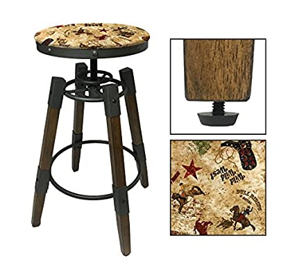 Pleasant Amazon Com 1 Adjustable 25 30 Tall Industrial Wood And Onthecornerstone Fun Painted Chair Ideas Images Onthecornerstoneorg