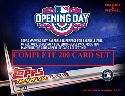 200 Card Set (2017 Topps Opening Day Baseball Cards - Complete 200 Card Set (Includes Rookie Alex Bregman, Dansby Swanson, Aaron Judge, Andrew Benintendi and more))