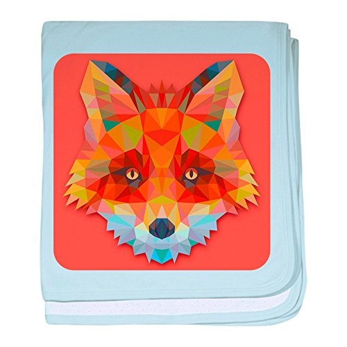 - Royal Lion Baby Blanket Triangle Fox - Sky Blue