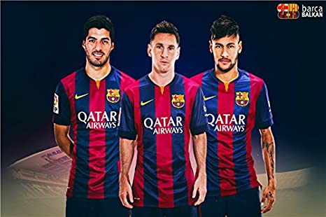Neymar JR Wall Sticker Messi carteles Arte Lienzo Papel tapiz de ...