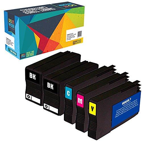 Do it Wiser Compatible Ink for HP OfficeJet Pro 8600 8610 8620 8100 8615 8625 8630 8600 Plus 8600 Premium 251dw 276dw - 5 Pack