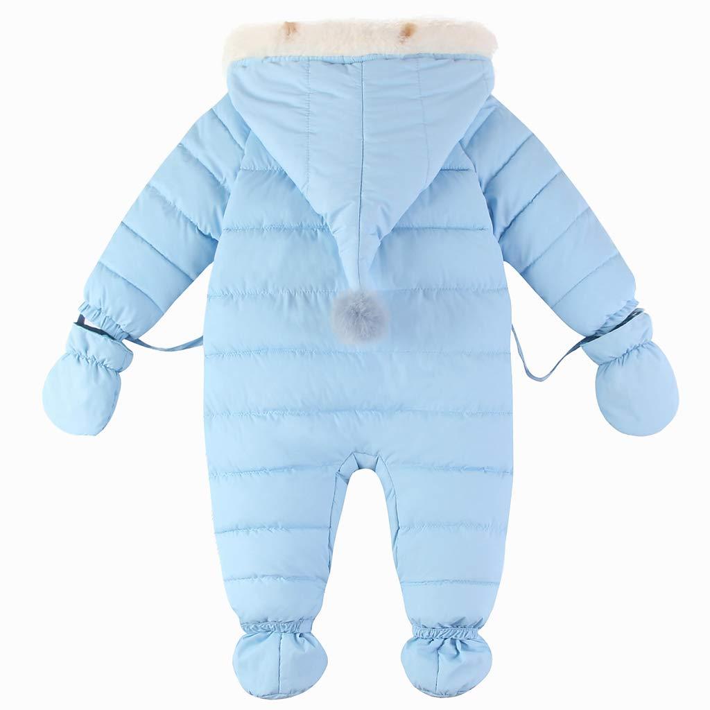 Gris 0-3 Meses Botines Peleles Monos con Capucha Invierno Mamelucos Chicas Body Beb/é Traje de Nieve