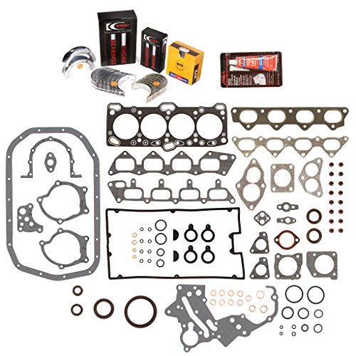 Evergreen Engine Rering Kit FSBRR5005\0\0\0 Fits 89-92 Mitsubishi Eagle Plymouth 2.0 4G63 4G63T Full Gasket Set, Standard Size Main Rod Bearings, Standard Size Piston Rings ()