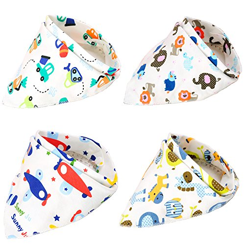 Boieo Cotton Baby Bandana Drool Bibs for Baby Boys with