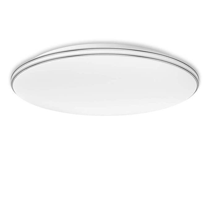 LVWIT Lámpara de Techo LED - 24W equivalente a 70W, Plafón LED de 1680 lúmenes, Color blanco frío 6000K, No regulable - 40 x 40cm.