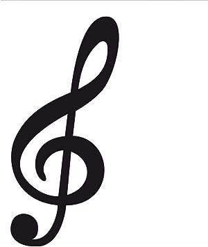 Waofe De Gran Tamaño De Clave De Sol Nota Musical Etiqueta De La ...