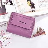 Sinwo Gift!! Women Girl Wallet Clutch Purse Lady Short Holder Zipper Coin Purse Clutch Handbag Bag (Purple)