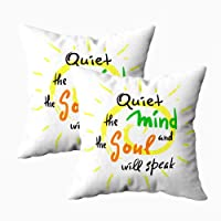 HerysTa Throw Pillow Cases, Home Decorative Body Pillow Cover Pack of 2 18X18Inch...